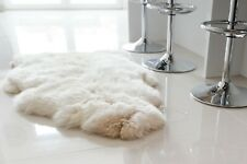 Genuine Sheepskin Rug Giant Single Pelt 135x80cm Off White Fur Rug