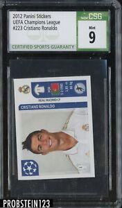 2012 Panini Stickers UEFA Champions League Soccer #223 Cristiano Ronaldo CSG 9