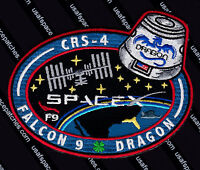 CRS-4 AUTHENTIC SPACEX FALCON 9 DRAGON ISS Commercial NASA SUPPLY FLIGHT PATCH