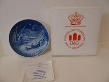 New ListingBing & Grondahl Christmas Plate 1970 Jule-After Pheasants in the Snow (S1