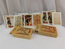 Nice French JEU DE L'AN 2 Vintage Styled Playing Cards 2 Matching Boxed Sets