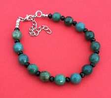 Moss Agate Gemstone Handmade Unique Beaded Women's Bracelet - Aussie Seller!!!