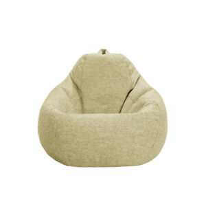 Large Beanless Bean Bag Thick Cotton Flannelette No Odor Washable Chair Couch