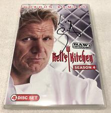 Hell's Kitchen: Season 4 (DVD, 2010) Signed Gordon Ramsay Autographed