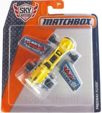 MATCHBOX Sky Busters Freeway Flyer Diecast Plane Model Yellow Aircraft NEW