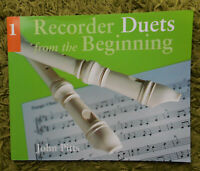 Recorder Duets from the Beginning Book 1- John Pitts: 22 Tunes Chester Music New