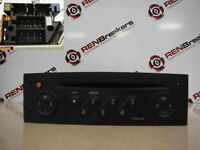 Renault Megane 2002-2008 CD Player Tuner List Radio  Code 8200256141