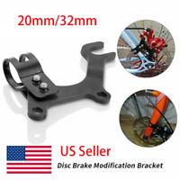 Bike CNC Wheel Disc Brake Bracket Frame /& Flange Nut Mounting Holder Kit Repair