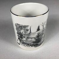 Indiana Hoosiers Coffee Mug VTG 90s Beck Chapel Bloomington University Alumni