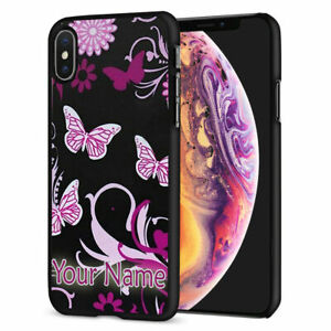 Personalised NAME PINK BUTTERFLY Printed Phone Back Case for Samsung Models S21