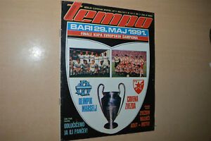 EUROPEAN CUP FINAL 1991 Programme FC RED STAR Belgrade vs OLYMPIQUE DE MARSEILLE