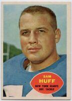 1960 Topps #80 Sam Huff Near Mint+ New York Giants FREE SHIPPING