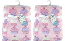 Set di 2 newborn baby girl SOFT Fleece COPERTA CARROZZINA NEONATO CULLA IN VIMINI REGALO ROSA