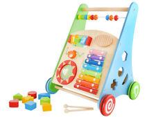 Lauflernwagen aus Holz Baby Walker Gehfrei Lauflernhilfe Steckspiel Zubehör 4624