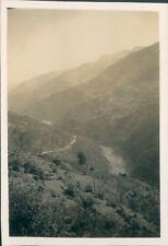 India 1932 Hiking In Kohala Main Kashmir Road  Original Photo 3.5 x 2.5 inch