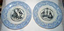 LOT 2 ASSIETTES 1/2 PORCELAINE CHOISY LE ROI Hautin - Boulenger 1850 H NYON
