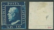 1859 SICILIA EFFIGIE 10 GR SENZA GOMMA - A123