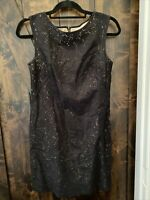 ANN TAYLOR LOFT Womens Dress Size 2 NWOT Black With Beige Underlay