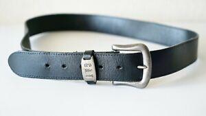 Vintage CAT Caterpillar Black Leather Belt Men`s Used Made UK Stylish Comfort