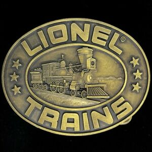 Lionel Electric Trains Train Engine Toy Model Railroad 80s NOS Vtg Belt Buckle