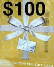 CARD $100 VANILLA VISA GIFT USE ANYWHERE ACTIVATED! SUPER FAST SHIPPING!