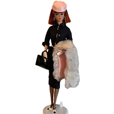 Custom Mattel Lingerie Barbie Doll with Lunch at the Club Outfit
