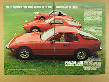 1979 Porsche 911SC 911 SC Targa 928 & 924 red cars photo vintage print Ad