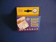 """Mini Reise Pillenbox Tablettenbox mit """"Übelsticker"""" und Instruktionsheft !!!"""