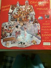 """""""Christmas at our House"""" 1000 Piece SunsOut Jigsaw Puzzle~New Box Damaged"""