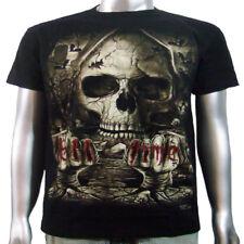 Custom Harley Chopper Skull Infierno Rider Moto Motociclista Tee Hombre Camiseta Xl Y Xxl