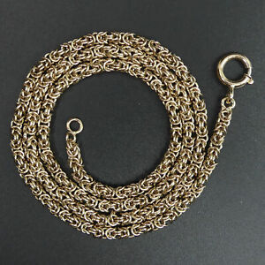 """FINE QUALITY 9 CT GOLD BYZANTINE LINK 21"""" NECKLACE CHAIN - 30 GRAMS"""