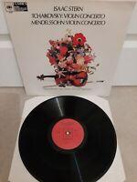 "61029 ISAAC STERN Tchaikovsky / Mendlessohn Violin Concerto Vinyl 12"" LP 1973"