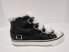 Ash Valko High Top Sneakers, Black/Off White, Womens 8 M (EU 38)