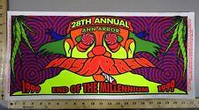 1999 Rock Concert Poster Hash Bash 28th Annual Ann Arbor Arminski Signed