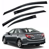 For 2012-2014 Toyota Camry 4pcs Smoke Window Sun Rain Vent Visors Wind Guard