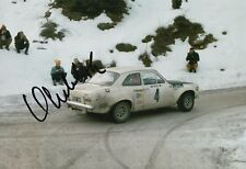 Hannu Mikkola Hand Signed 12x8 Photo Ford Rally 1.