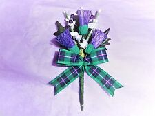 Wedding Buttonhole Scottish Hibernian FC Tartan  ~Made to Order~Any Quantity