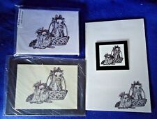 Yorkshire Terrier 4 Piece Set-Notepad, 6 Blank Notecards, Print and Magnet New