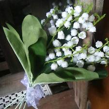 15 Rispen = Weiß Kunstblume Künstlicher Strauß Schneeglöckchen Maiglöckchen