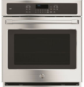 """GE Cafe 27"""" Stainless Steel Self Clean Convection Wall Oven--BRAND NEW!"""
