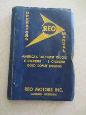 Original 1955 Reo Truck owners manual