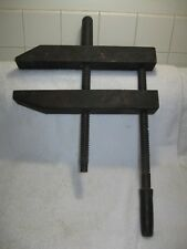 """Vintage 14"""" Woodworking Collectible Wood Screw Clamp-Wood Shop Tools-Furniture!!"""
