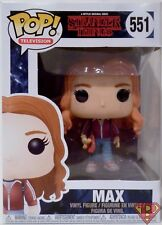 """MAX with SKATEBOARD Stranger Things Pop Television 4"""" Vinyl Figure #551 2017"""