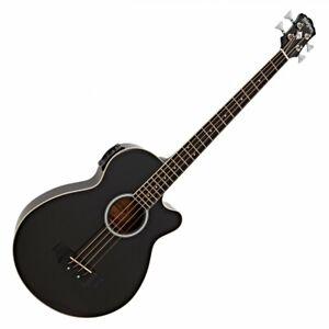Washburn AB5 Acoustic Bass, Black / Beschädigt