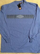 Harley Davidson Blue Long Sleeve Shirt Nwt Men's large