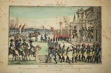 """NAPOLEON - ESPAGNE -"""" PRISE DE LA VILLE DE VALENCE, 1812 """" Gravure 19è Etching"""
