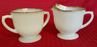 VINTAGE FIRE KING OVEN WARE GOLDEN ANNIVERSARY CREAMER AND SUGAR