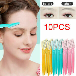 10 Face Eyebrow Razor Trimmer Dermaplaning Shaper Shaver Hair Removal Tool Women