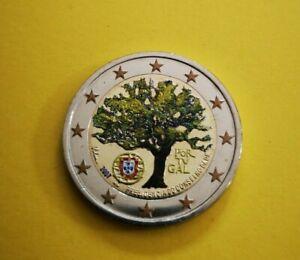 2 euro commémorative colorisée Portugal 2007 Présidence UE
