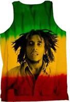 Zion Rootswear Bob Marley Rastafarian Colors Portrait Tank Top Shirt ZRBM0234